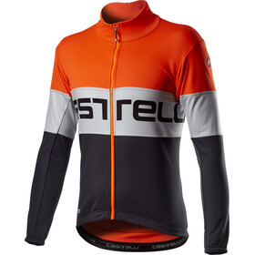 Castelli Prologo Jacket Men orange/silver grey/dark grey